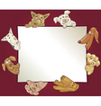 frame with dogs vector image vector image