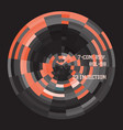 futuristic interface radial abstract 3 vector image