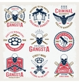 Gangster Colored Emblems vector image vector image