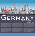 germany city skyline with gray buildings blue sky vector image vector image