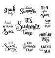 hand drawn brush letterings summer typography vector image