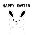 happy easter bunny rabbit hare face head black vector image vector image