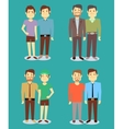 Happy gay LGBT men pairs in love background vector image vector image