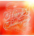 happy thanksgiving autumn leaves background vector image vector image