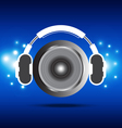 headphone and speaker vector image vector image