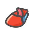 human heart organ vein icon cartoon vector image