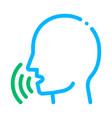 human voice control icon vector image