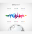 infographic template with polygonal map and vector image vector image