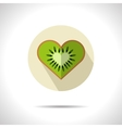 kiwi heart icon vector image