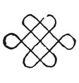 knot of destiny design dates back to solomons vector image vector image