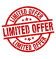 limited offer round red grunge stamp vector image vector image