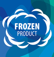 logo for frozen products in form a cloud vector image vector image