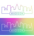 madison skyline colorful linear style editable vector image vector image