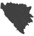 map of bosnia and herzegovina vector image