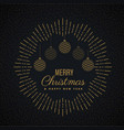 merry christmas greeting card design with hanging vector image vector image