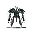 Military robot transformer vector image