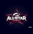 modern professional emblem all star for american vector image vector image