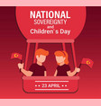 national sovereignty day with air ballon vector image vector image