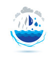 ocean freshness theme symbol for use in mineral vector image vector image