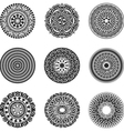 Oriental radial patterns set vector image vector image