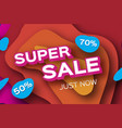 paper super sale discount poster in paper cut vector image vector image
