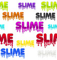 seamless pattern colored text slime white texture vector image