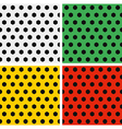 Seamless Soccer Ball Patterns Set White Green and vector image