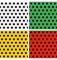 seamless soccer ball patterns set white green vector image