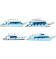 set motor yachts vector image vector image