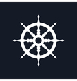 Ship Wheel Isolated on Black Background vector image vector image
