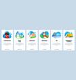 switzerland website and mobile app onboarding vector image vector image