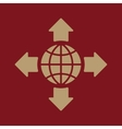 The navigation icon Location symbol Flat vector image