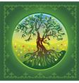 Tree summer vector image
