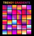 trendy gradients screen gradient covers vector image vector image