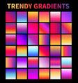trendy gradients screen gradient covers vector image vector image