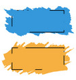 two bannersborders of color brush strokes set vector image vector image