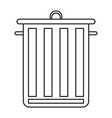 universal waste bin with lid and handles black vector image