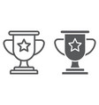 winner line and glyph icon game and award trophy vector image vector image