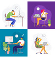 working late overtime work busy workaholic vector image vector image