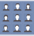 people profile silhouettes women and men in white vector image