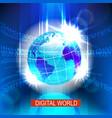 digital global world vector image