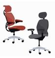 ergonomic chair office furniture adjustable vector image