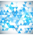 Abstract 3D triangles geometric background vector image vector image