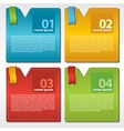 Abstract colorful set of square banner