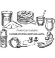 american cuisine vector image