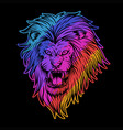 angry lion colorful vector image