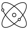 atom icon - thin line science and nuclear concept vector image