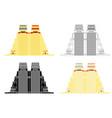 aztec mayor temple in front view vector image vector image