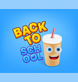 back to school concept with doodle elements vector image