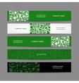Banners set floral design vector image